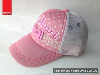 *Mũ lưới hồng OLLIKARI dành cho bé gái 030