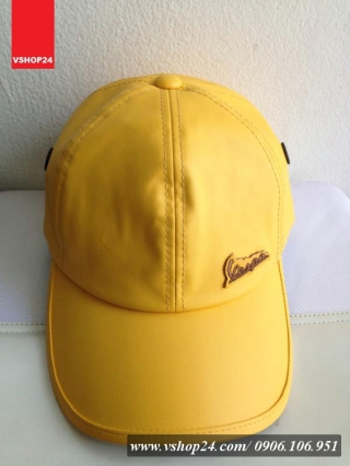 Mũ da cao cấp Vespa vàng 027