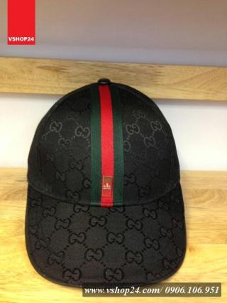 *Mũ hàng hiệu Gucci đen 08