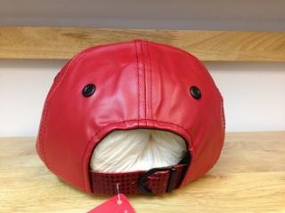 Mũ lưỡi trai da cao cấp Ne màu đỏ 05