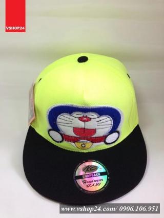 *Mũ snapback DOREMON xanh neon 097