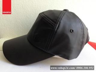 *Mũ da cao cấp màu đen 03