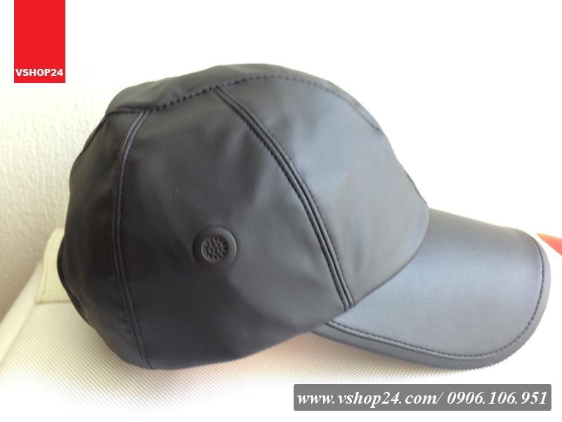 Mũ da thời trang NEW CAP màu đen 013