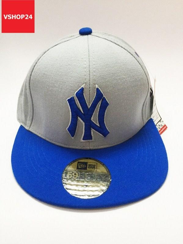 *Mũ snapback VNXK NY ghi xám vành xanh 026
