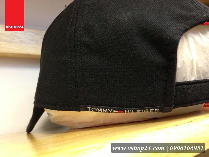 *Mũ lưỡi trai hàng hiệu TOMMY HILFIGER đen 117