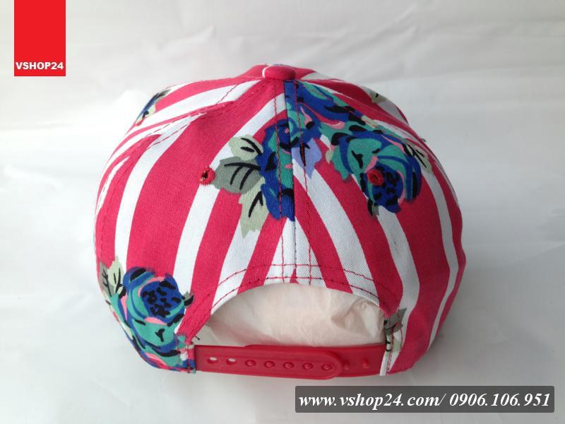*Mũ Hiphop Snapback hoa kẻ sọc đỏ lớn SUPREME 061