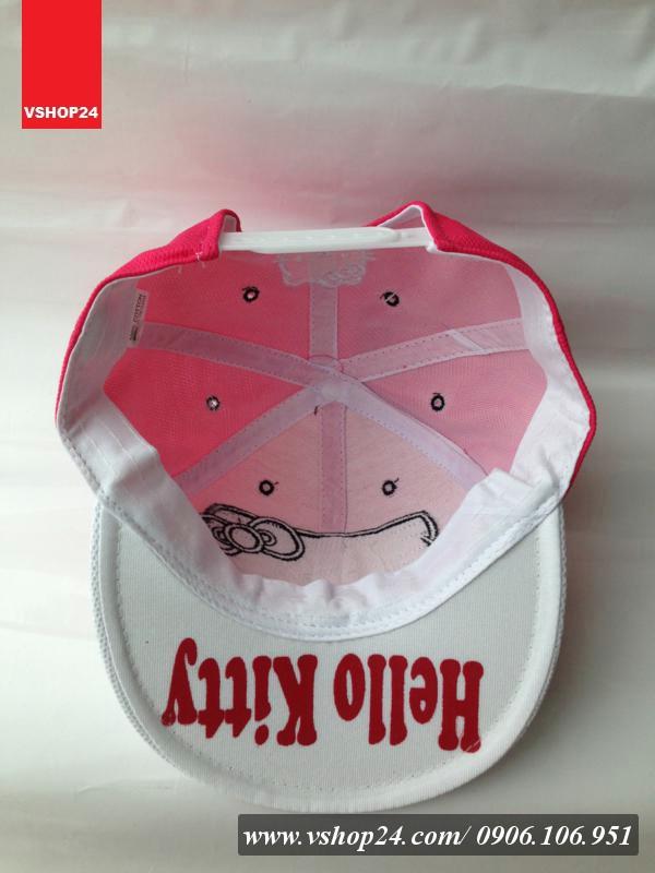 *Mũ snapback HELLO KITTY hồng đậm 100