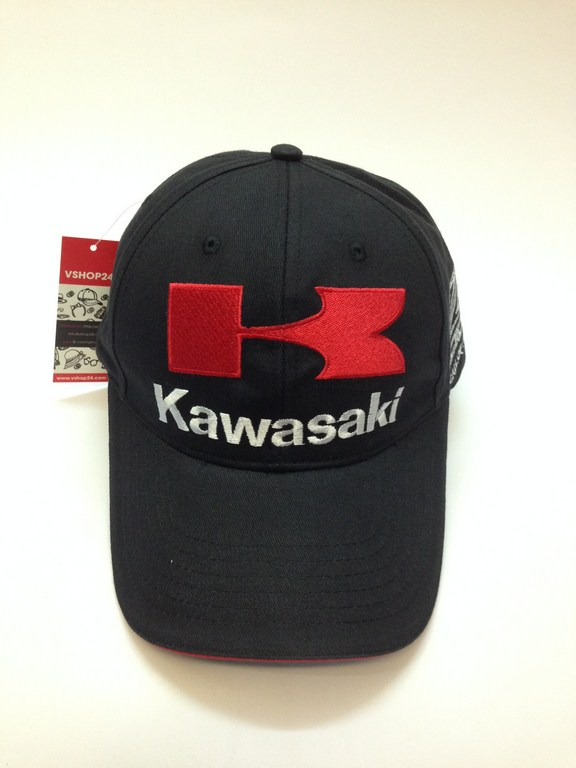 *Mũ lưỡi trai xe đua KAWASAKI đen 01