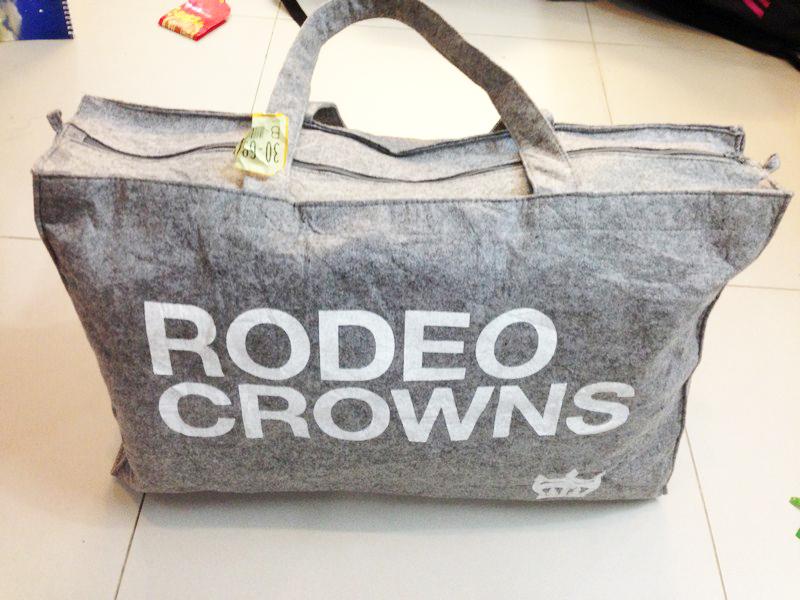 Túi du lịch thời trang RODEO CROWNS ghi xám 055
