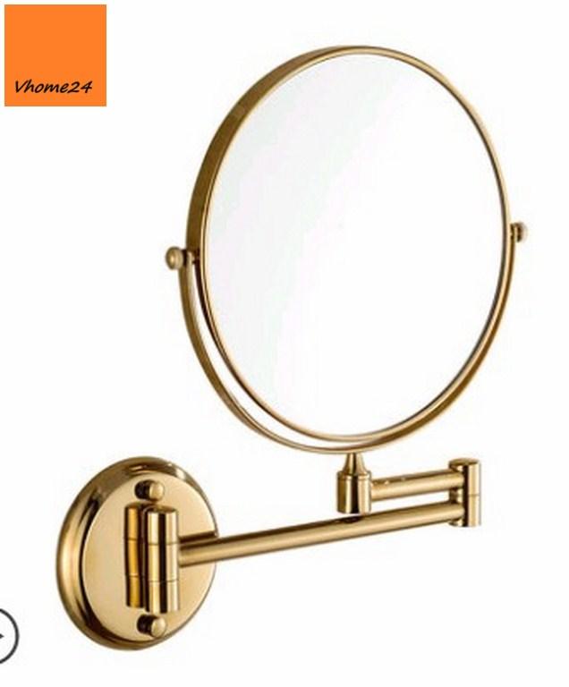 *Gương trang điểm inox gắn tường mạ vàng GTD106V