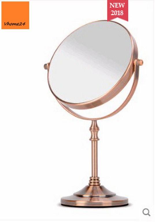 *Gương trang điểm cao cấp đồng đỏ GTD146