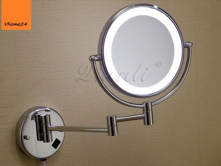 *Gương đèn led inox khoan ốp tường 127