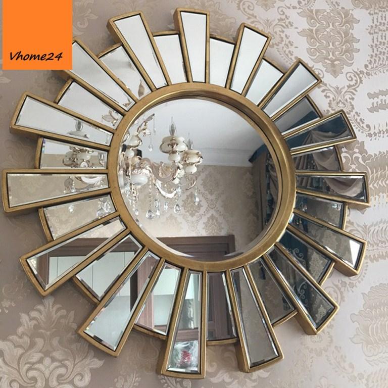 *Gương trang trí decor hoa đồng tiền 078