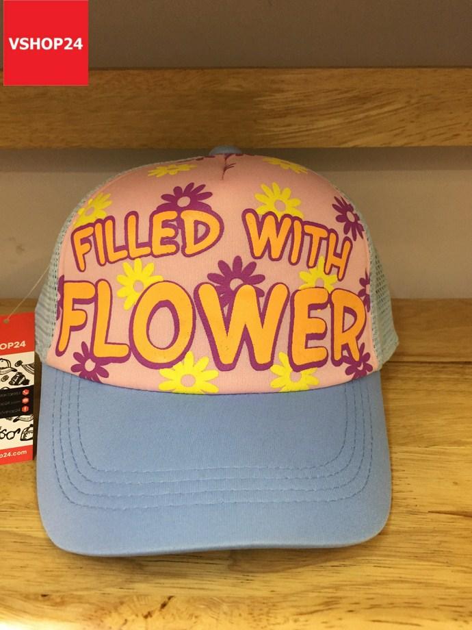 *Mũ lưới trẻ em VNXK FLOWER xanh da trời 174