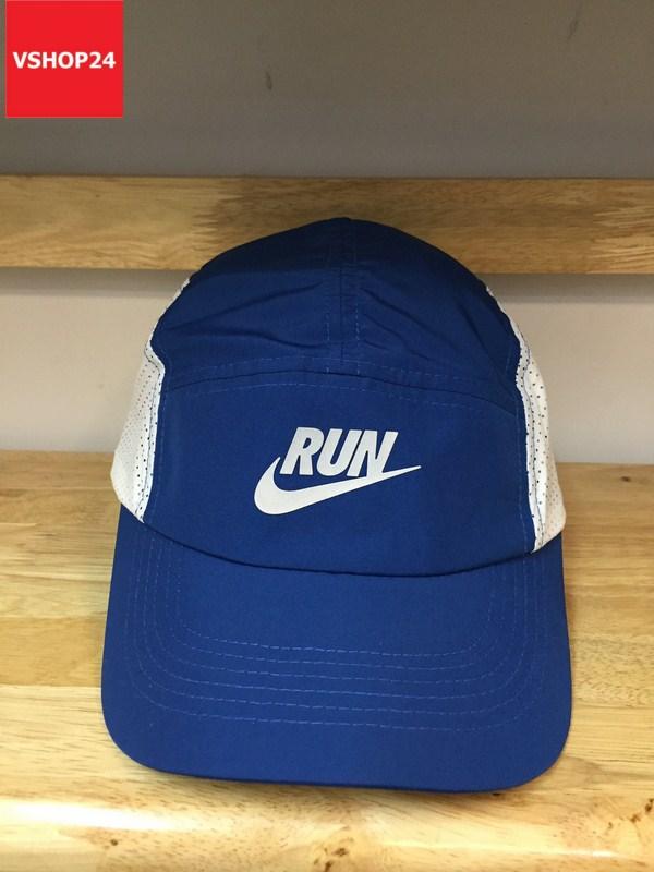 *Mũ thê thao hàng hiệu Nike Run xanh trắng 163