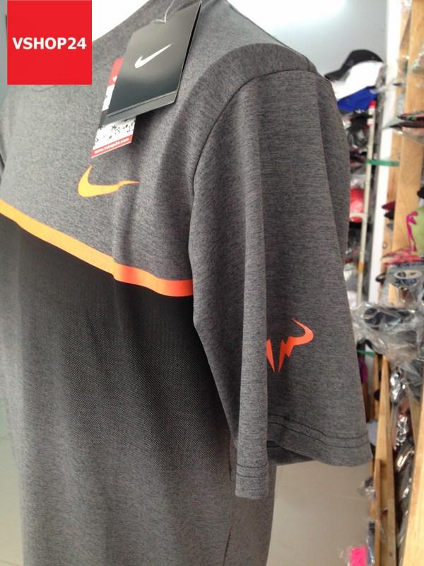 Áo thun nam Nike cổ tròn màu ghi sẫm 11