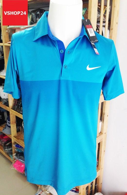 Áo phông nam NIKE xanh dương cổ bẻ 13