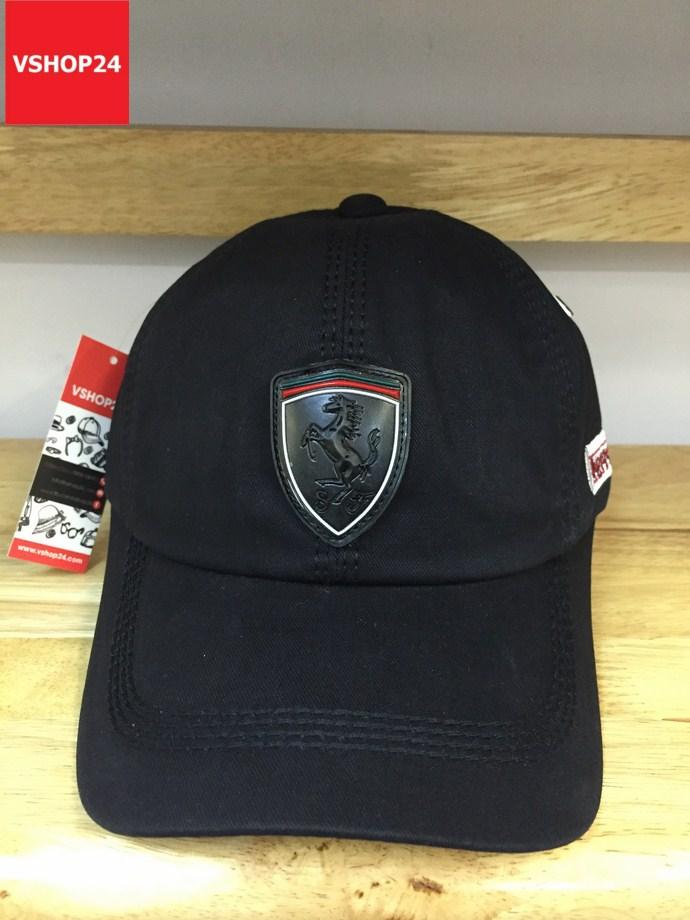 *Mũ lưỡi trai nam VNXK Ferrari đen 117