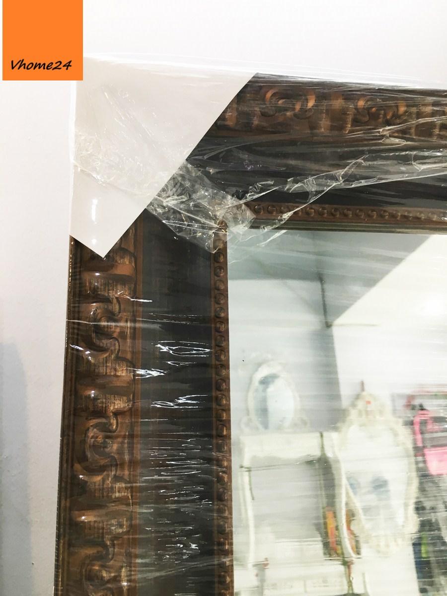 *Gương soi toàn thân khung nâu chạm khắc cổ điển 187