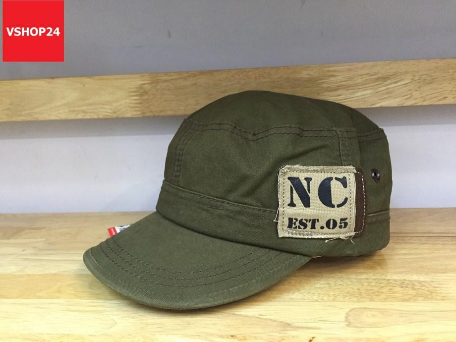 *Mũ khaki đầu vuông NC 335