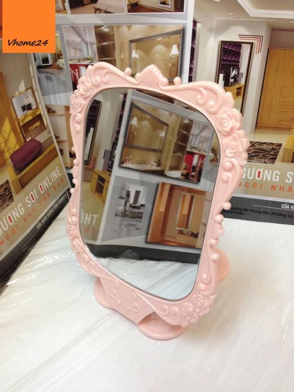 *Gương công chúa Anna Sui hồng nhạt 079