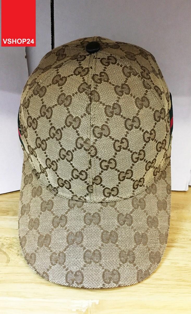 *Mũ Gucci nâu sọc 2 bên thêu ong 153
