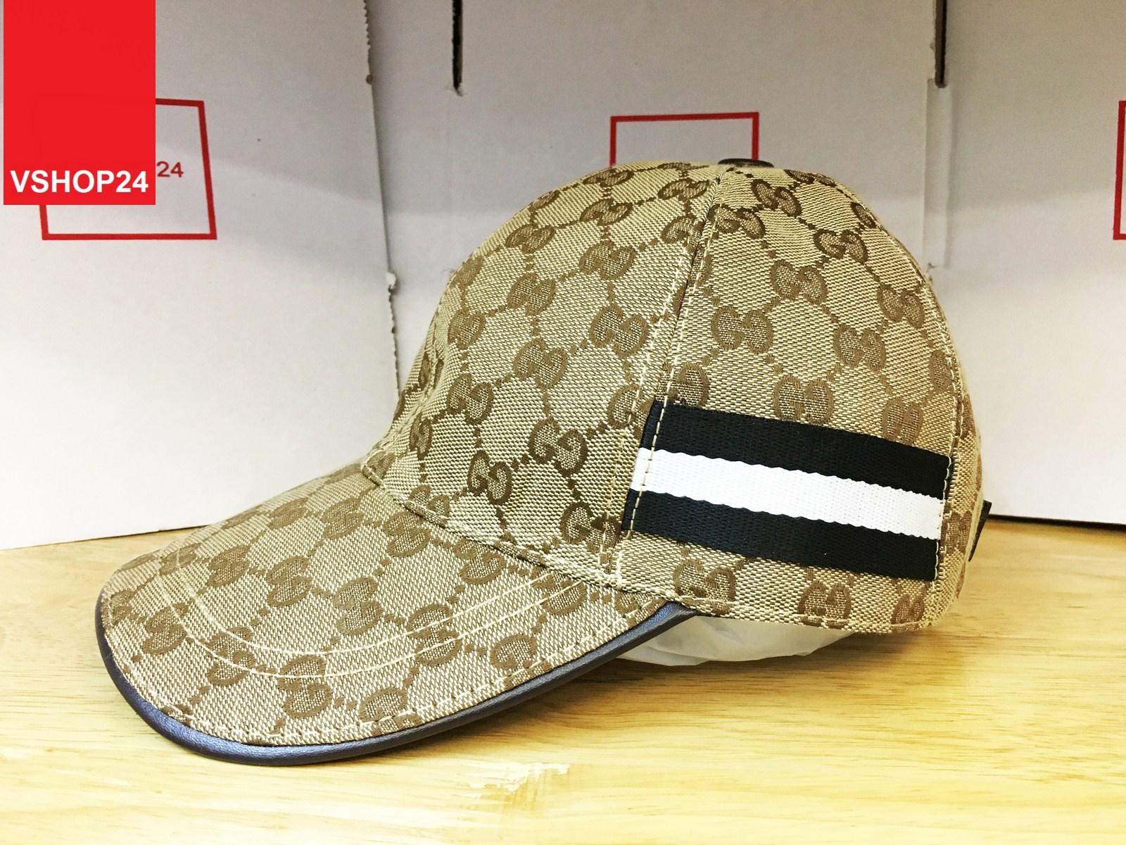 *Mũ Gucci sọc 2 bên đen trắng 155