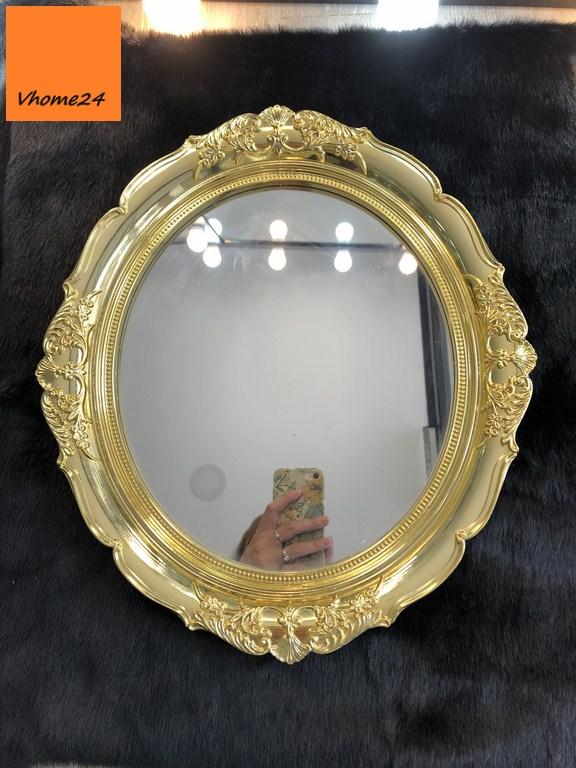 *Khay gương trang điểm nhựa mạ vàng GTD156