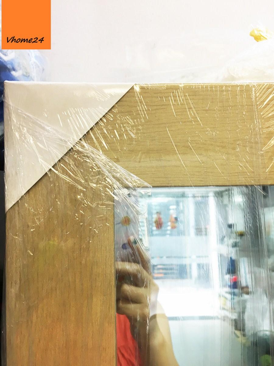 *Gương soi toàn thân khung gỗ công nghiệp màu kem 189