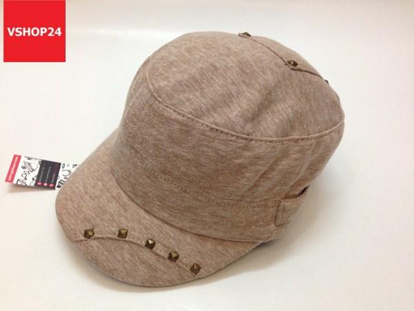 *Mũ đầu vuông VNXK màu be đinh tán 290