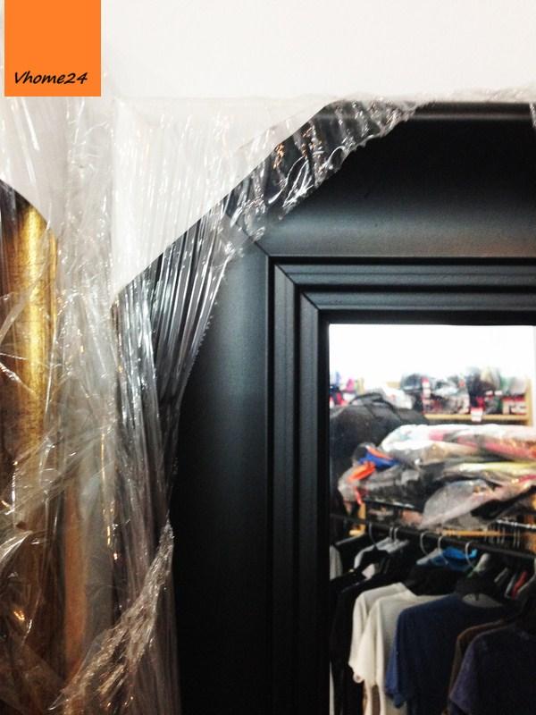 *Gương trang trí phòng khách IKEA khung đen 020