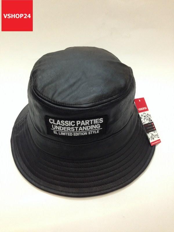 Mũ bucket da CLASSIC PARTIES đen 026