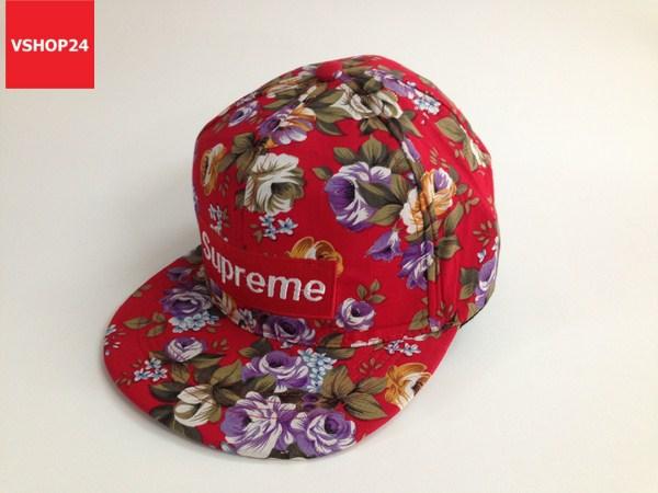 *Mũ snapback hoa Supreme đỏ 120