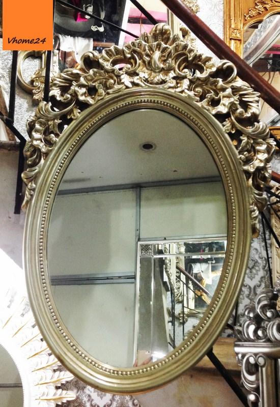 Gương decor phong cách hoàng gia hình oval 017