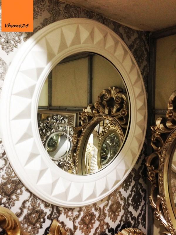 Gương decor phong cách hiện đại trắng 029