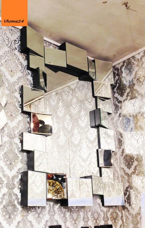Gương trang trí decor phòng khách trang trọng 051