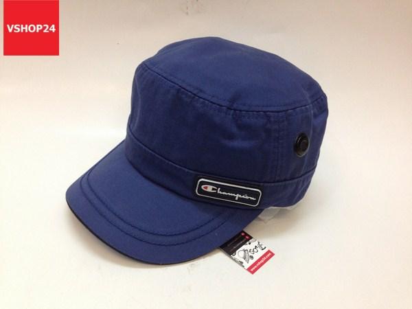 *Mũ đầu vuông Hàn Quốc cao cấp CHAMPION màu xanh blue 300