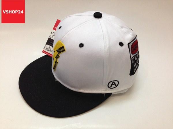 *Mũ snapback tia sét trắng vành đen 230