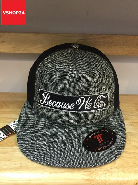 *Mũ snapback dạ Because We Can 151