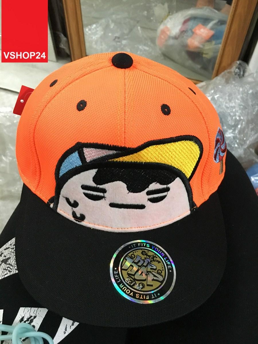*Mũ hiphop GOOGIMS màu cam 122