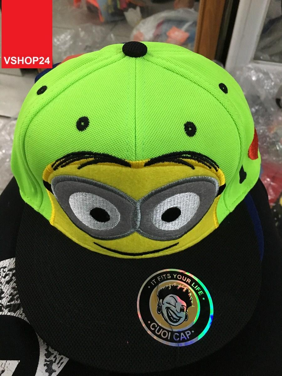 *Mũ hiphop MINIONS xanh dạ quang 133