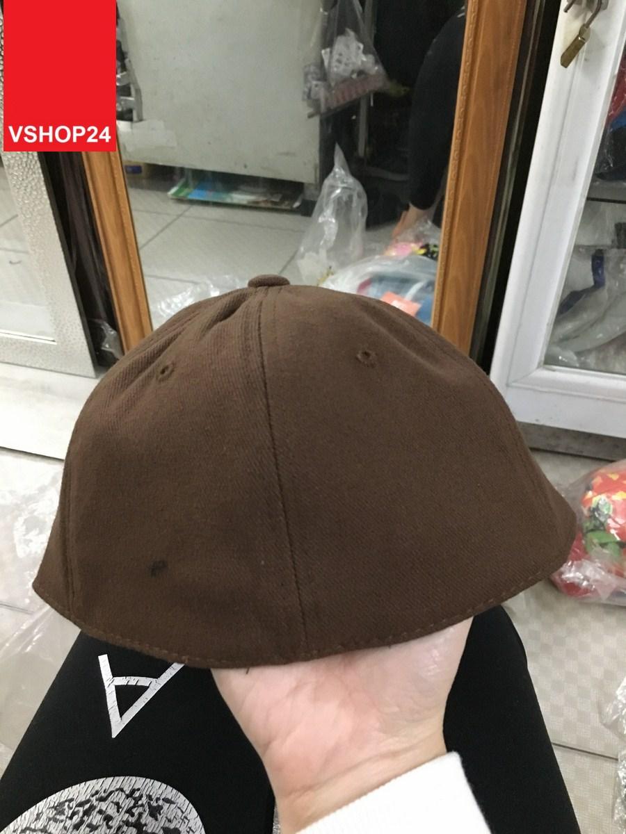 *Mũ Hip Hop Snapback trơn nâu 018