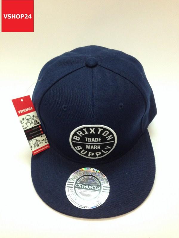 *Mũ snapback VNXK Brixton logo tròn xanh navy 336