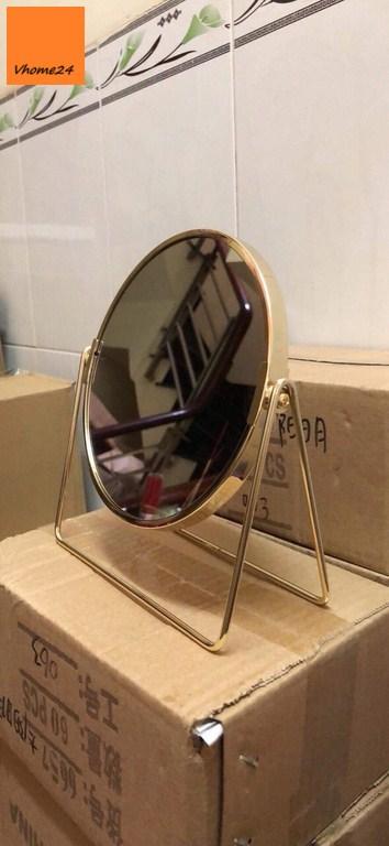 *Gương trang điểm để bàn mạ vàng GTD156