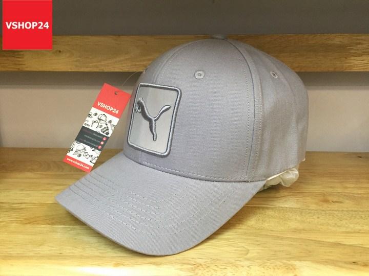 *Mũ lưỡi trai bít đuôi VNXK Puma ghi xám logo vuông 183