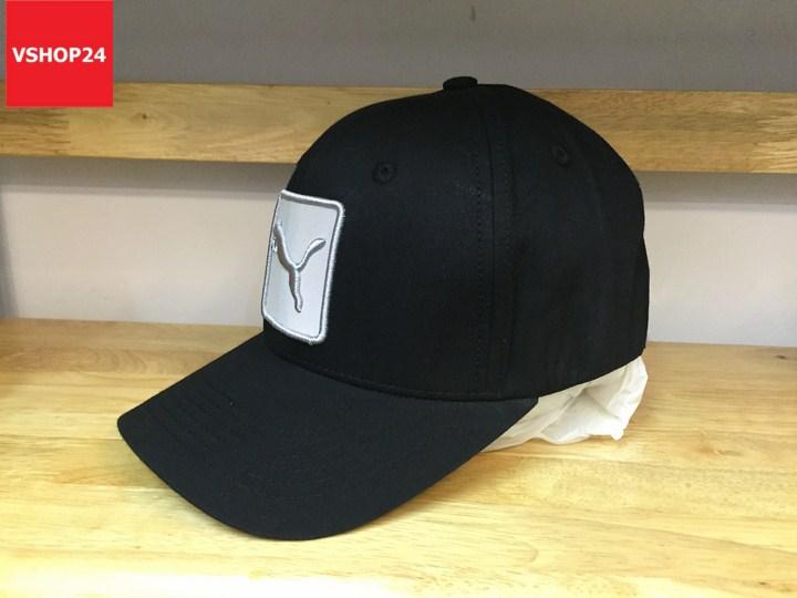 *Mũ sports PUMA bit đuôi logo vuông màu đen 060