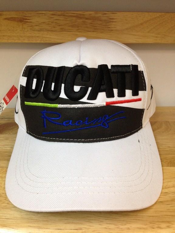 Mũ lưỡi trai nam DUCATI Racing trắng 082