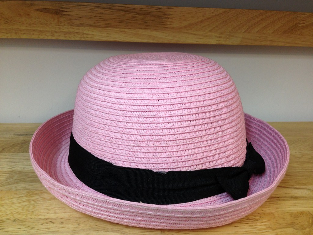 Mũ cói thời trang nữ dáng tròn màu hồng 254