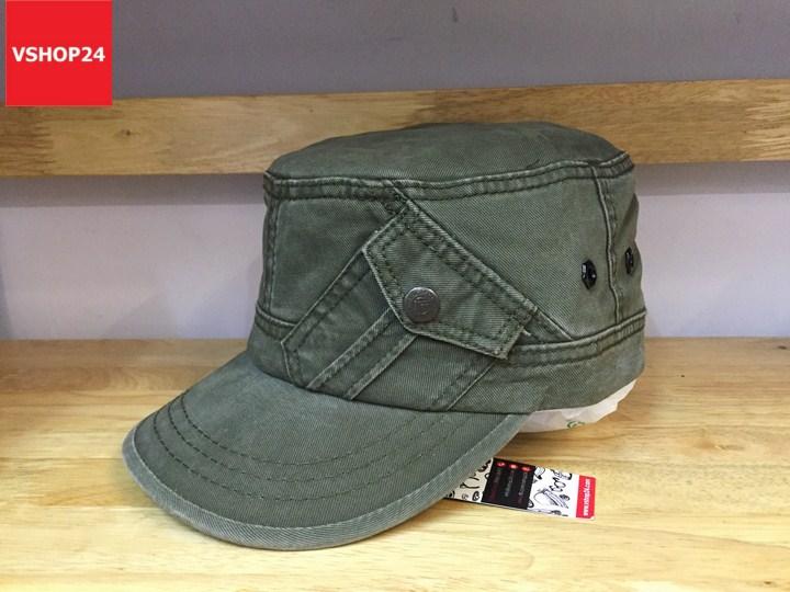 *Mũ đầu vuông Hàn quốc túi chéo nhỏ xanh rêu 330