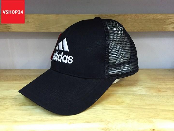 *Mũ lưới Addidas đen trơn 195